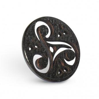 Amuleta din Lemn - Triskelion M2, Negru
