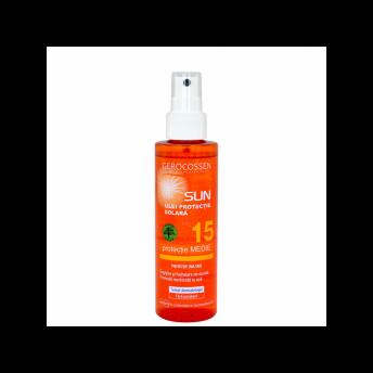 Ulei cu protectie solara FPS 15 Natural Sun, 150 ml, Gerocossen