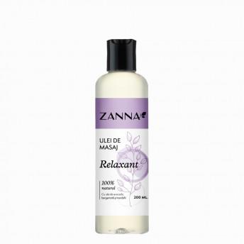 Ulei de masaj Relaxant cu Bergamota si Trandafir, 200ml, Zanna