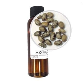 Ulei organic de ricin presat la rece, 60 ml - Akoma Skincare