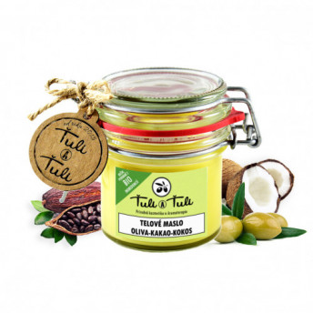 Unt natural de Corp cu Masline, Cacao si Cocos, 85 ml, Tuli a Tuli