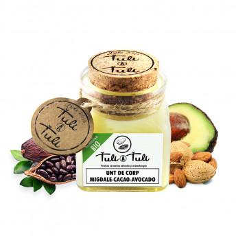 Unt natural de Corp cu Migdale, Cacao si Avocado, 100 ml, Tuli a Tuli