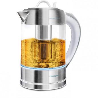 Fierbator cu filtru de ceai 2in1 Cecotec ThermoSense 370 Clearl, 2200 W, 1.7L, Inox, oprire automata