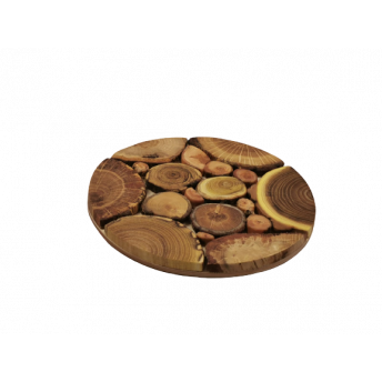 Suport Oala, din Lemn, Rotund, 18 cm
