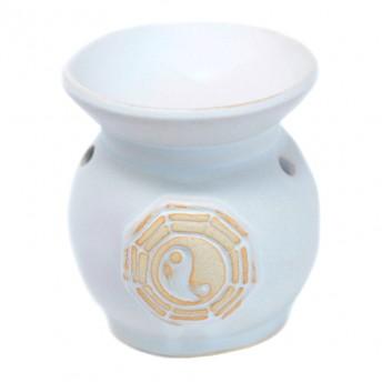 Vas Aromaterapie Yin Yang, rotund alb