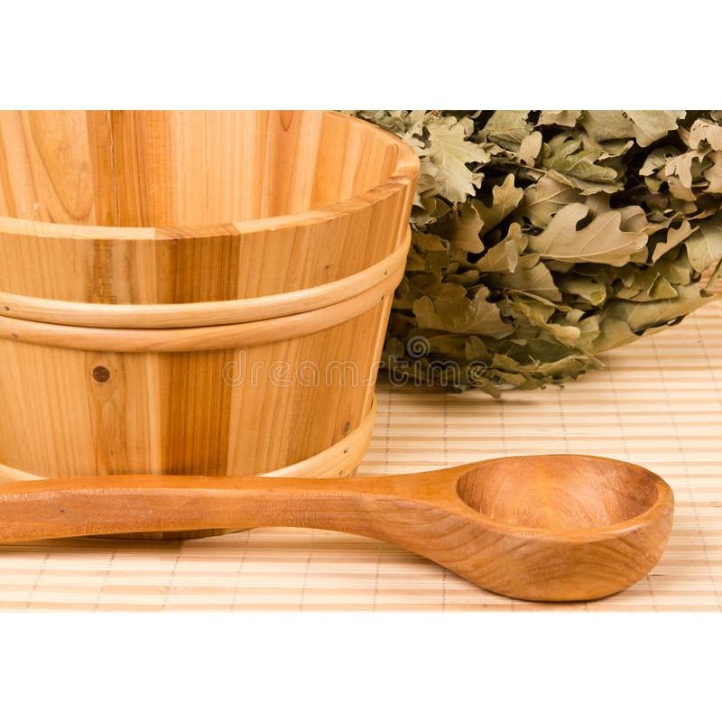 Lingura pentru Sauna,din Bambus, 39 cm