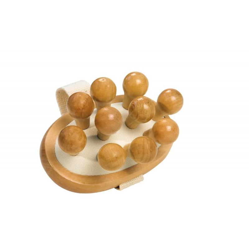 Perie masaj, ovala, anticelulitic, pini mari, lemn fag