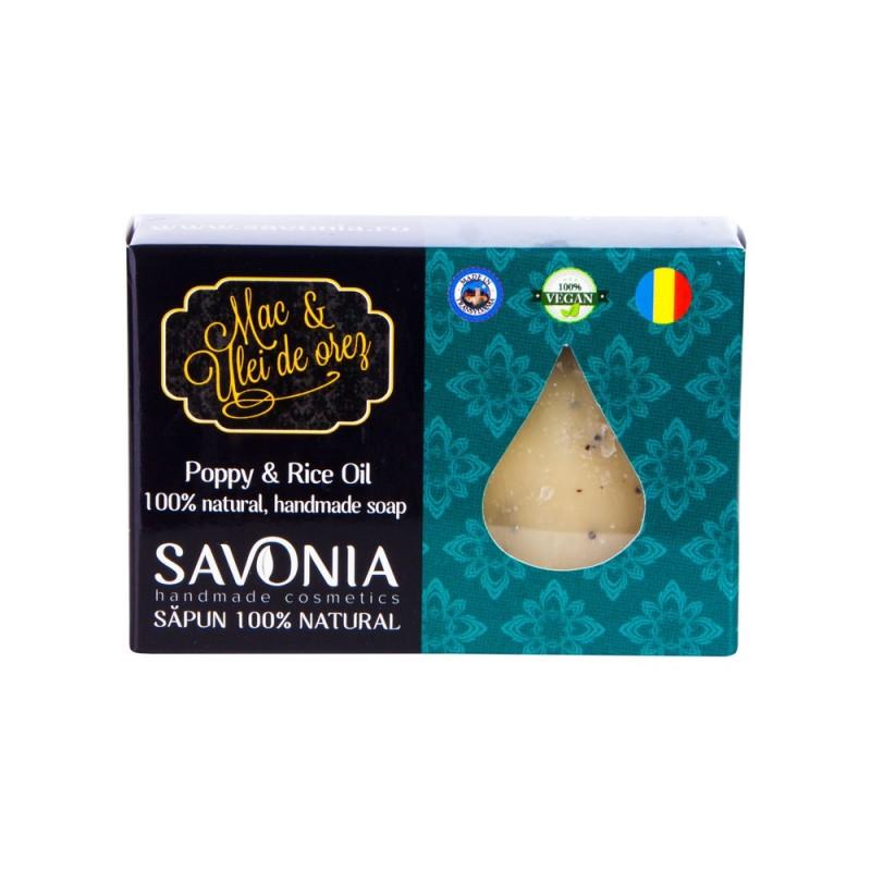 Sapun Natural  Mac si Ulei de Orez - Savonia