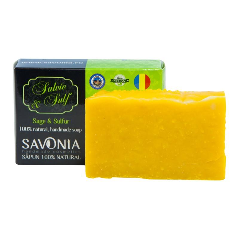 Sapun Natural Salvie si Sulf - Savonia